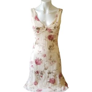 Charlotte Russ Floral lace dress